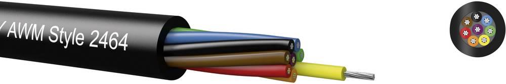 Krmilni kabel LiYY 10 x 0.22 mm črne barve Kabeltronik 95102409 meterski