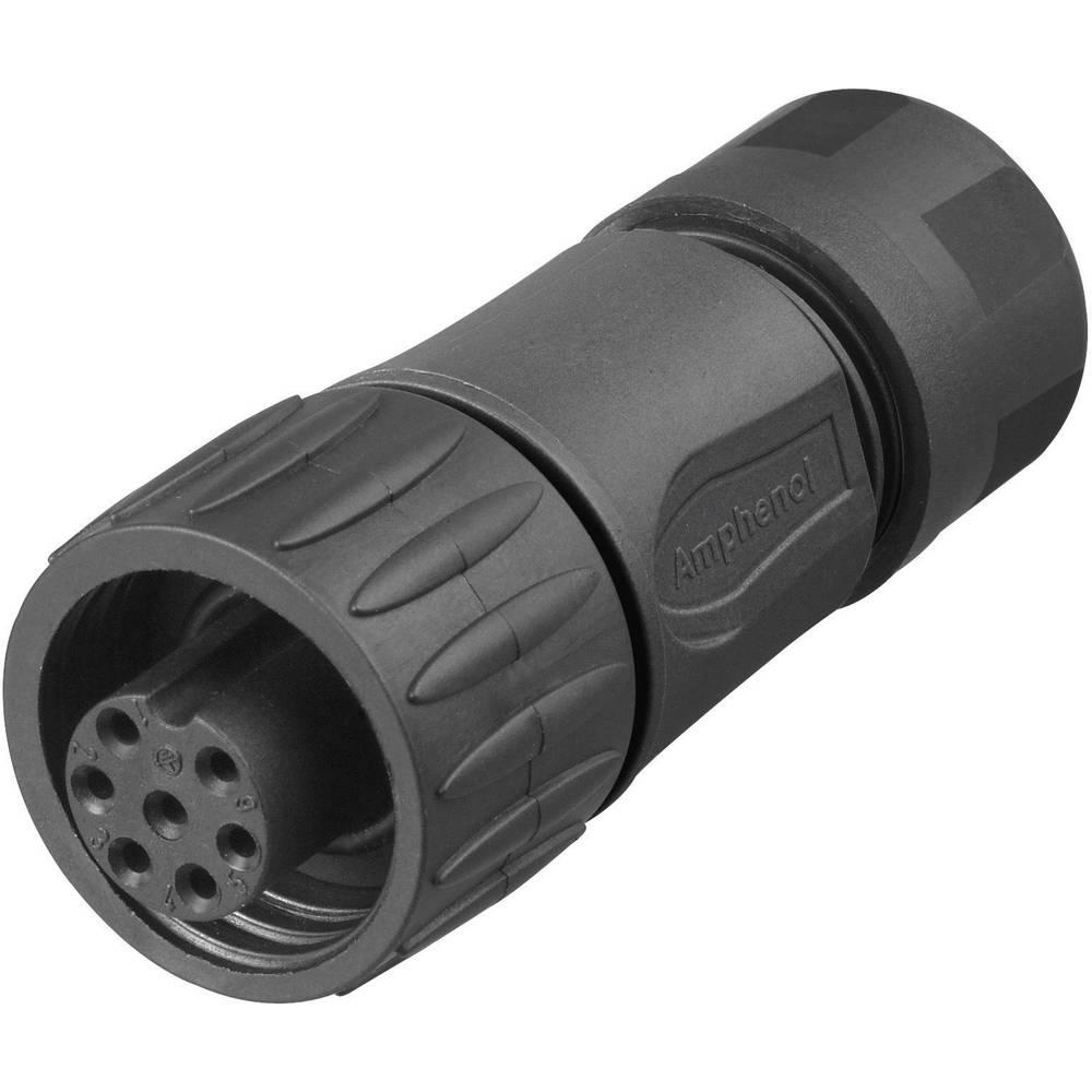 Kabelska vtičnica ravna C16-1 eco/mate-serije poli: 6+PE Kabelska vtičnica ravna 10 A C016 30D006 110 12 Amphenol 1 kos