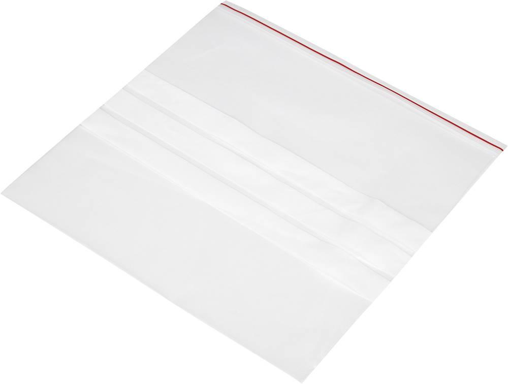 Vrečka s patentnim zapiranjem na pritisk in trakom za označevanje (Š x V) 250 mm x 250 mm prozorna, polietilen