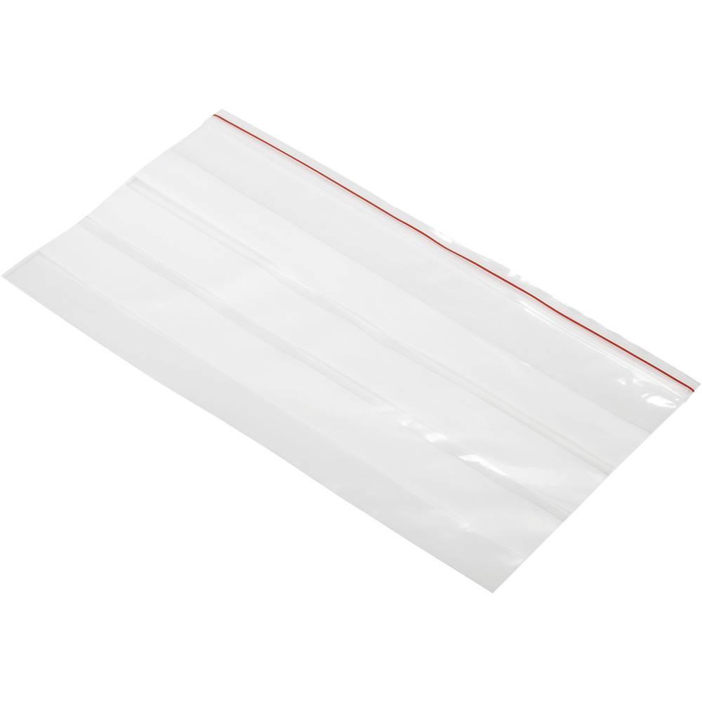 Tryklukningspose med tekstlabels (B x H) 220 mm x 120 mm Polyetylen Transparent 1 stk