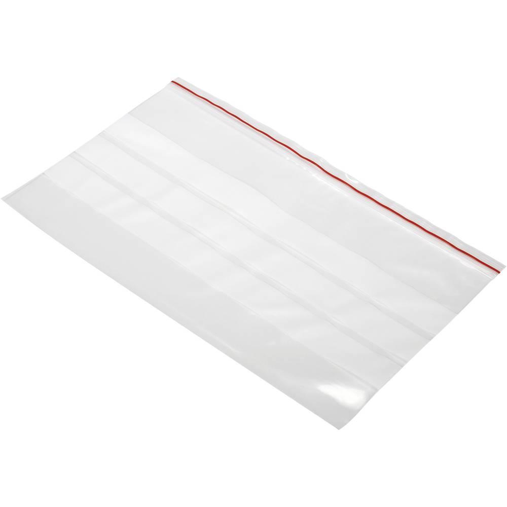 Tryklukningspose med tekstlabels (B x H) 250 mm x 150 mm Polyetylen Transparent 1 stk
