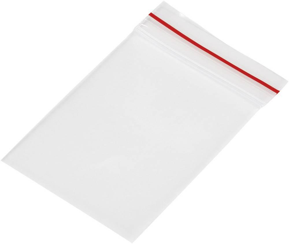 Vrečka s patentnim zapiranjem na pritisk brez traku za označevanje (Š x V) 35 mm x 55 mm prozorna, polietilen