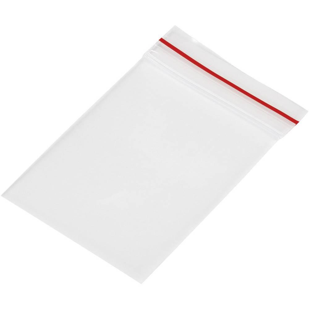 Tryklukningspose uden tekstlabels (B x H) 35 mm x 55 mm Polyetylen Transparent 1 stk