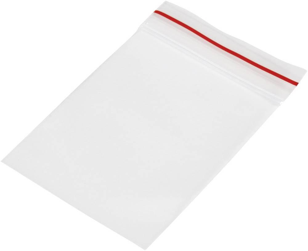Vrečka s patentnim zapiranjem na pritisk brez traku za označevanje (Š x V) 40 mm x 60 mm prozorna, polietilen