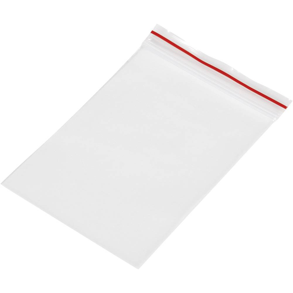 Vrečka s patentnim zapiranjem na pritisk brez traku za označevanje (Š x V) 50 mm x 75 mm prozorna, polietilen