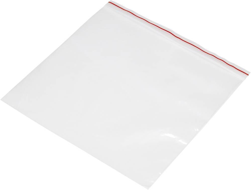 Vrečka s patentnim zapiranjem na pritisk brez traku za označevanje (Š x V) 250 mm x 150 mm prozorna, polietilen
