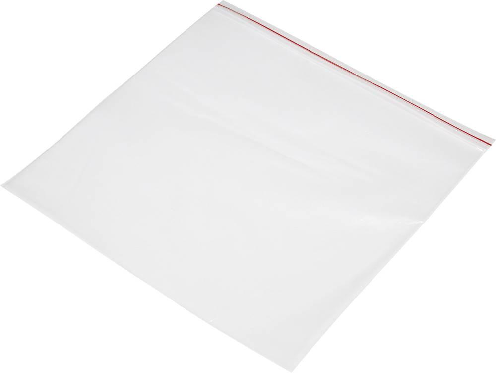Vrečka s patentnim zapiranjem na pritisk brez traku za označevanje (Š x V) 300 mm x 200 mm prozorna, polietilen