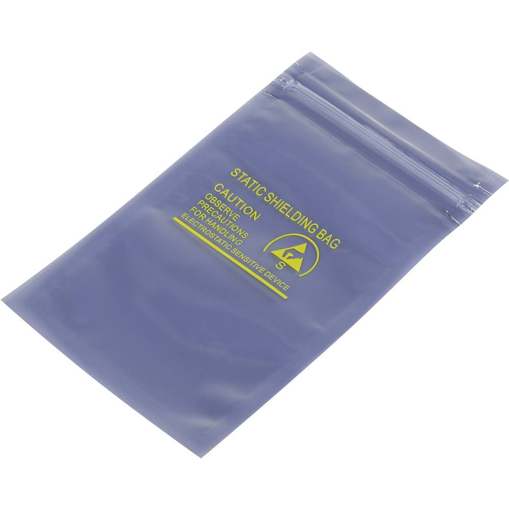 ESD zaščitna vrečka s patentnim zapiranjem na pritisk (D x Š) 127 mm x 76 mm debelina materiala 80 µm