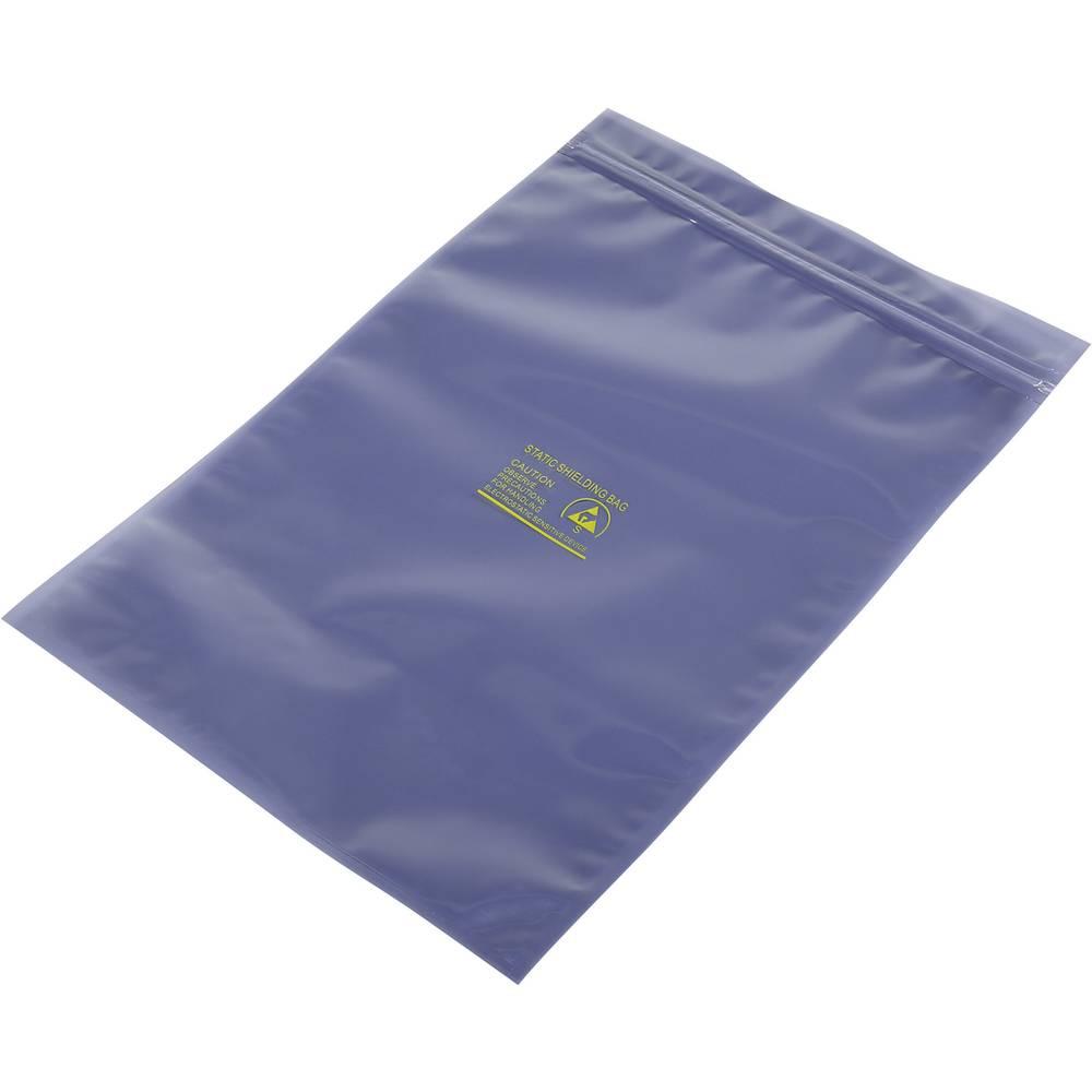 ESD zaščitna vrečka s patentnim zapiranjem na pritisk (D x Š) 300 mm x 200 mm debelina materiala 80 µm