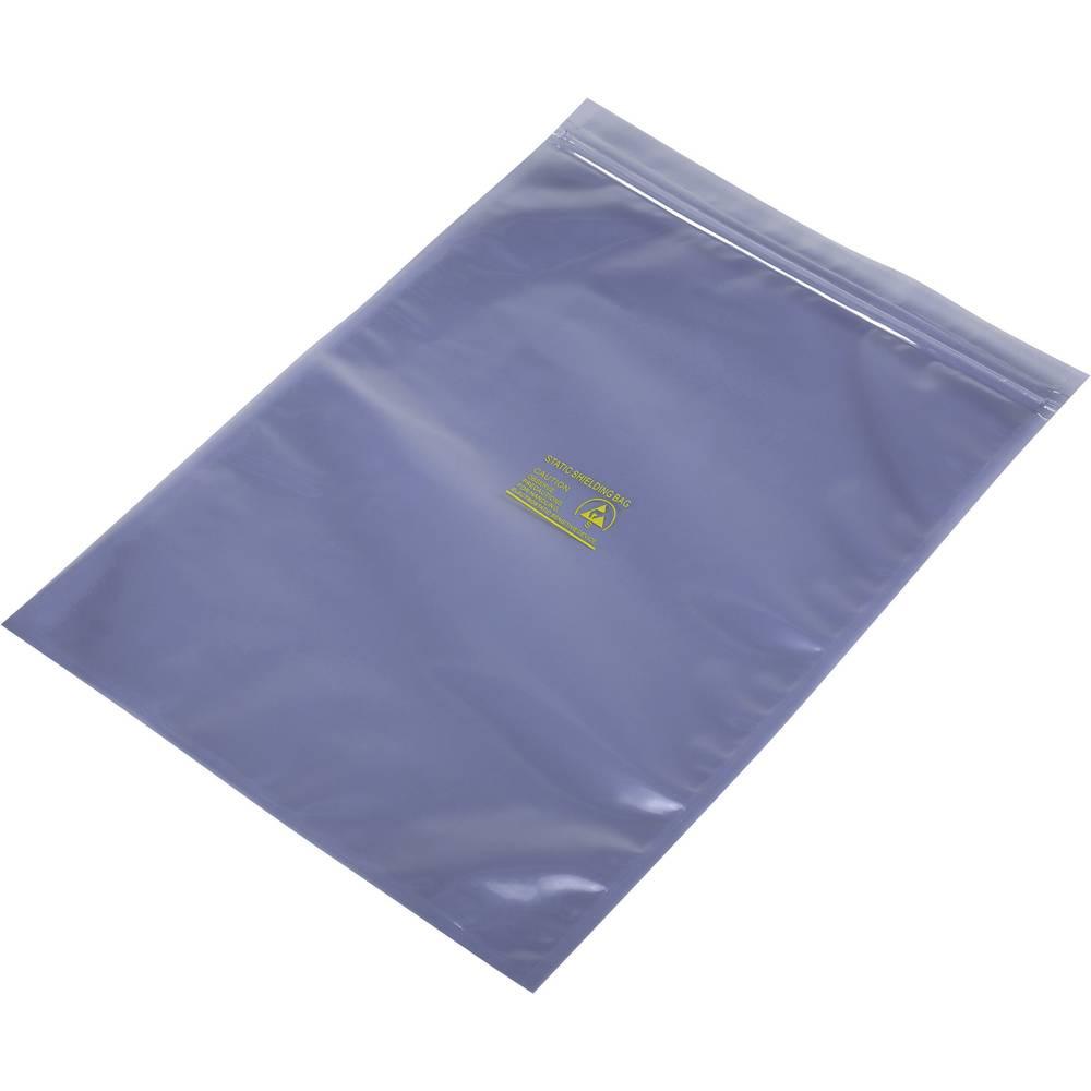 ESD zaščitna vrečka s patentnim zapiranjem na pritisk (D x Š) 350 mm x 250 mm debelina materiala 80 µm