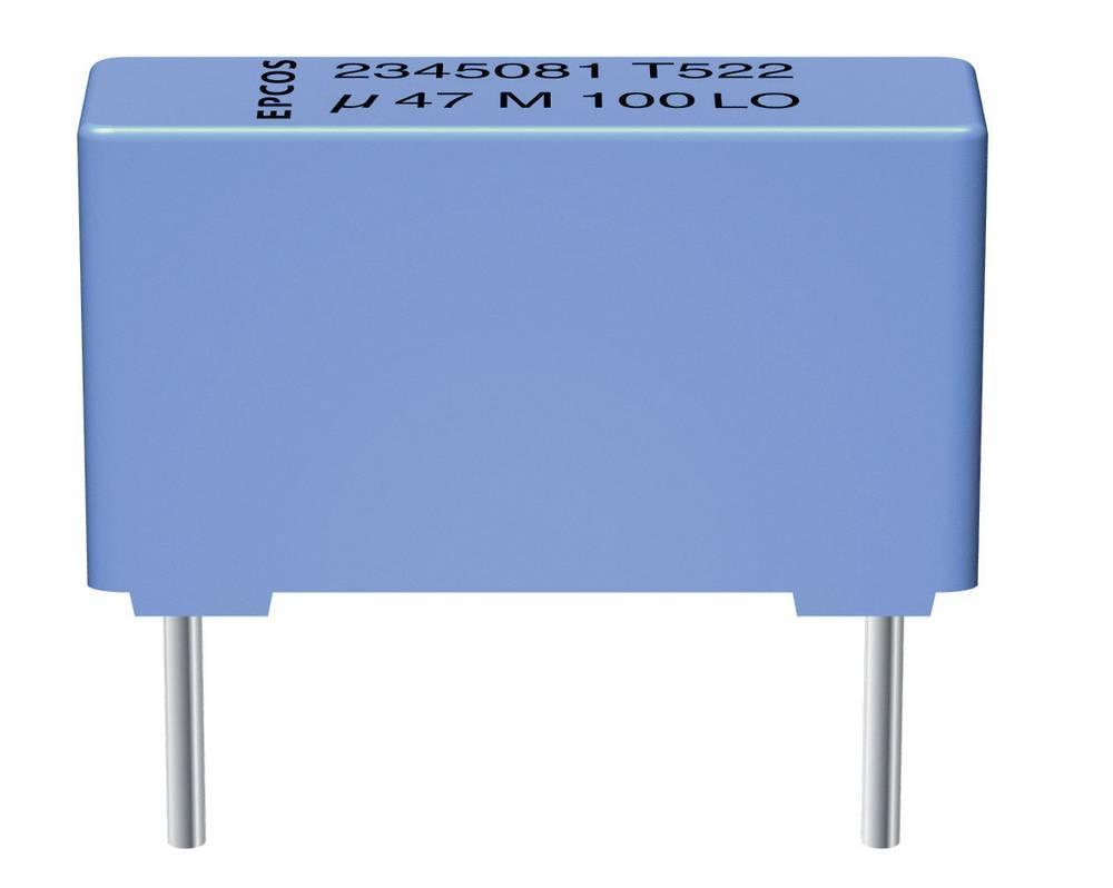 MKT-folijski kondenzator, radijalno ožičen 22 nF 400 V/DC 10 % 10 mm (D x Š x V) 13 x 4 x 7 mm Epcos B32521E6223K000 1 kos