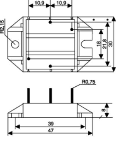 Diode bridge POWERSEM PSB68/16 Figure 3 1600 V 68