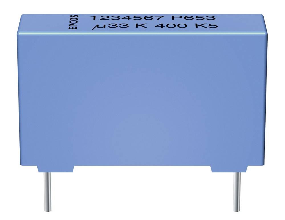 MKP-folijski kondenzator, radijalno ožičen 0.22 µF 1000 V/DC 5 % 27.5 mm (D x Š x V) 31.5 x 11 x 21 mm Epcos B32654-A224-J