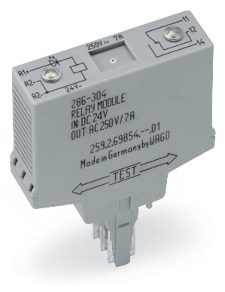 Vtični releji 24 V/DC 1 x preklopni WAGO 286-304/004-000 1 kos