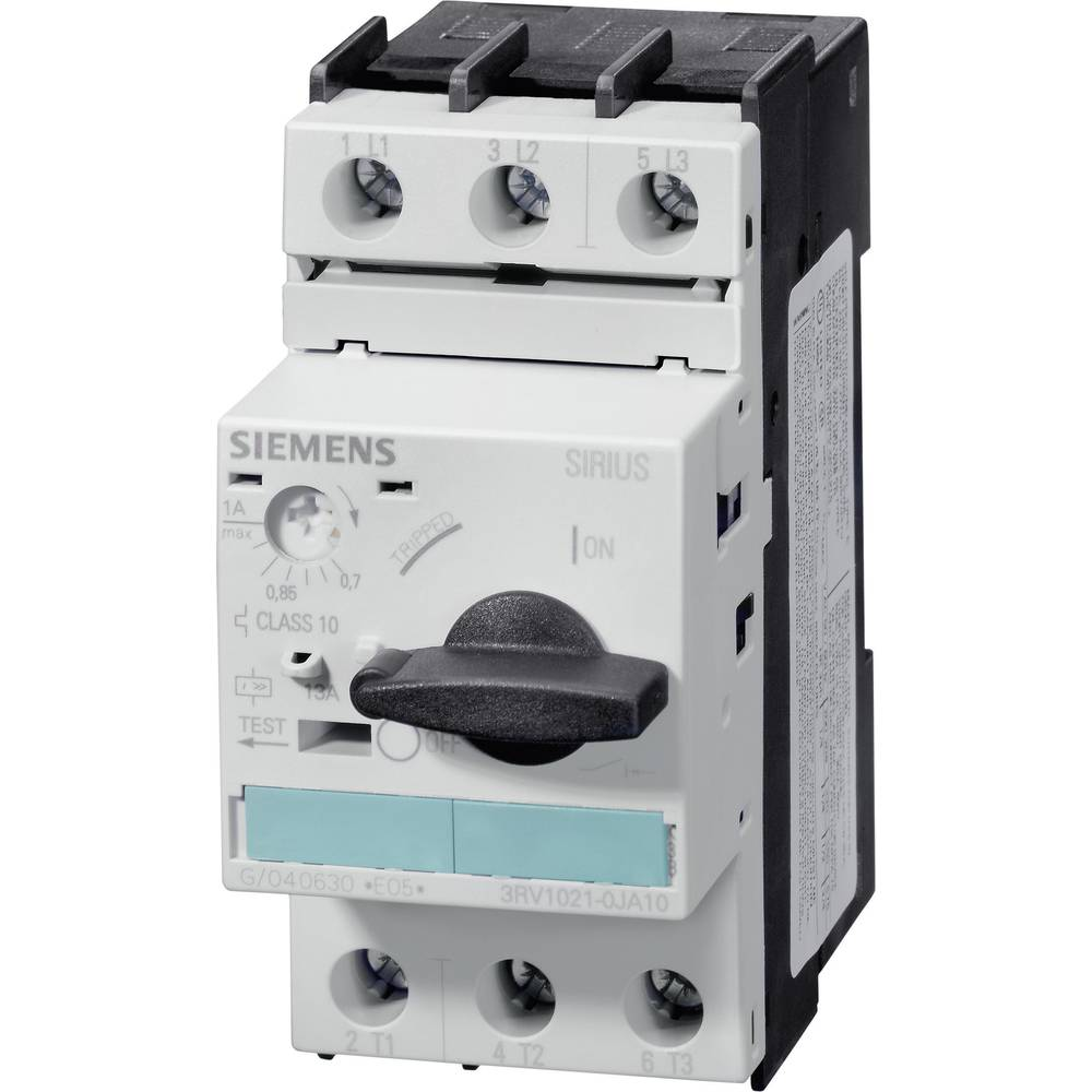 Snažan prekidač 1 kom. Siemens 3RV1021-1JA10 3 zatvarač, postavljanje (struja): 7 - 8 A preklopni napon (maks.): 690 V/AC (Š x V