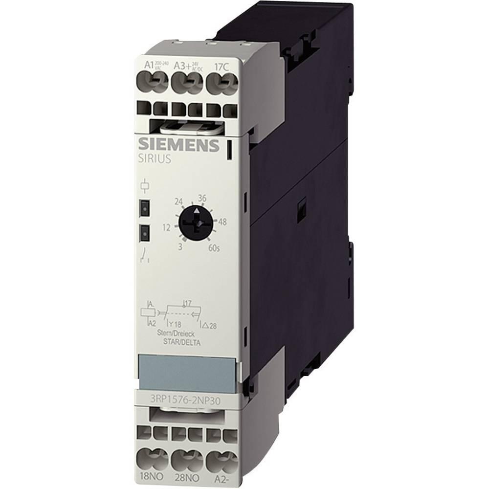 Časovni rele, večfunkcijski 1 kos Siemens 3RP1574-1NP30 časovni razpon: 1 - 20 s 2 zapiralni