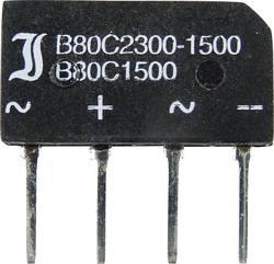 Mosni ispravljač TRU Components TC-B80C1500B SIL-4 160 V 2.3 A jednofazni
