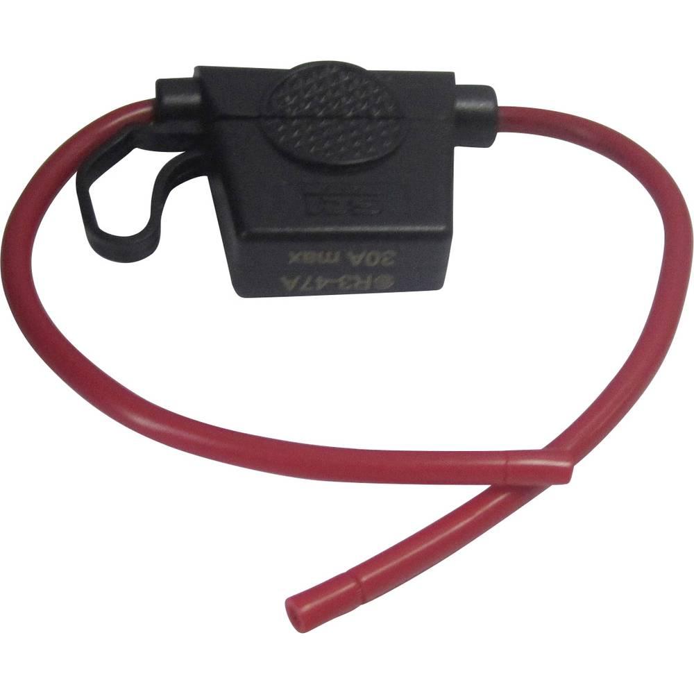 Bil-sikringsholder SCI Wire 12AWG R3-47A (red colour) Passer til Standard fladsikring 30 A 32 V/DC 1 stk