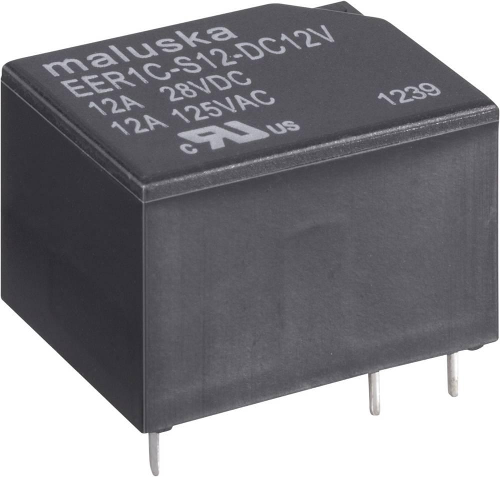 Miniaturni relej, 12 A, 1x UM, vodotijesan EER1 12VDC 12 V 1preklopni kontakt maks.12 A