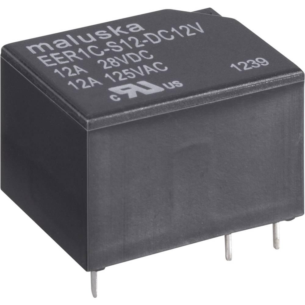 Miniaturni rele, 12 A, 1x UM,vodotesen EER1 6VDC 6 V 1 preklopni kontakt maks.12 A
