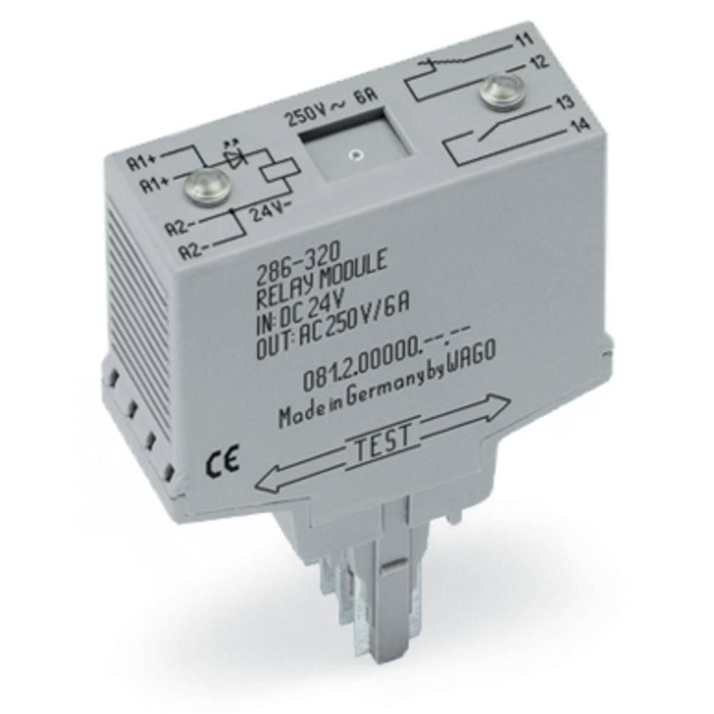 Vtični releji 24 V/DC 6 A 1 odklep, zapiralni WAGO 286-320 1 kos
