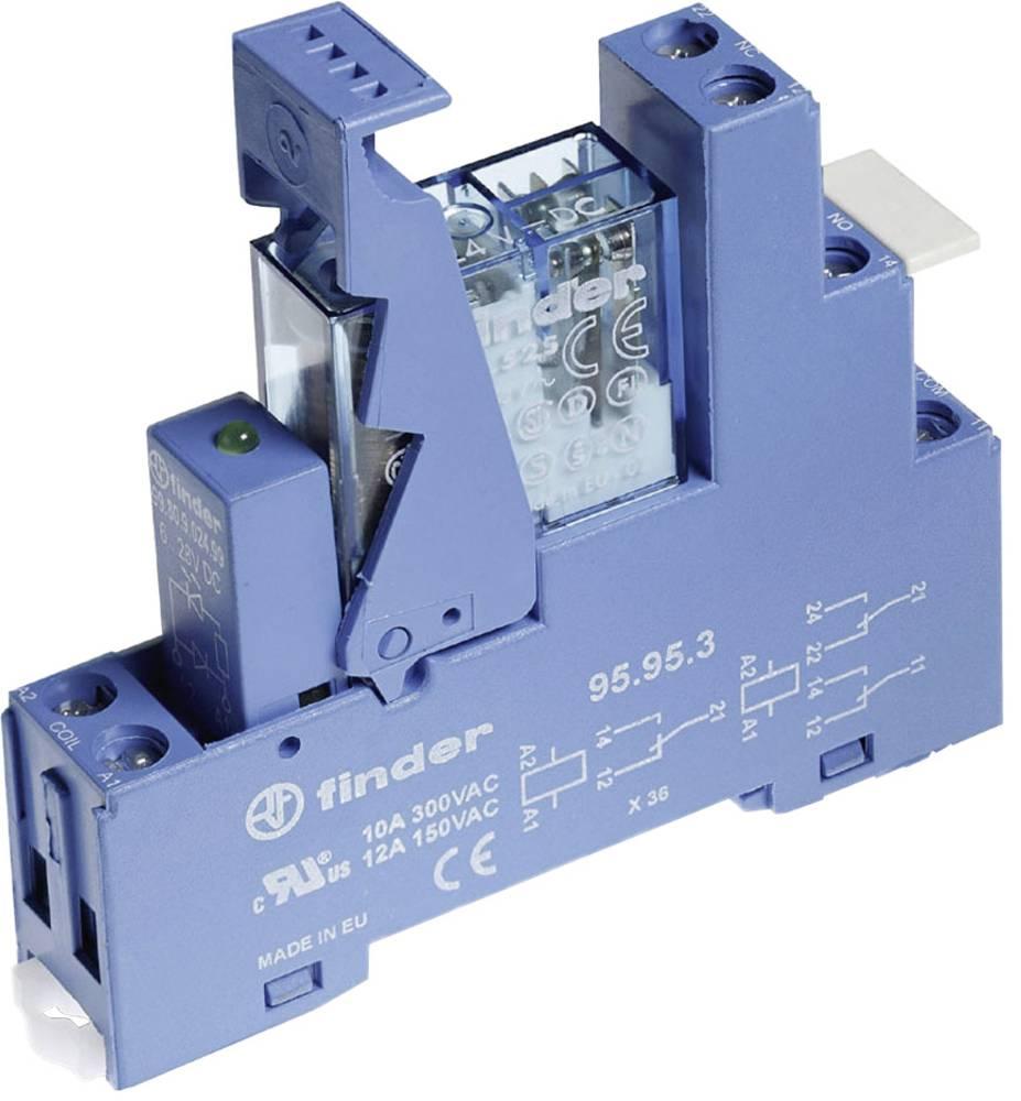 Relækomponent 1 stk Finder 49.61.7.012.0050 Nominel spænding: 12 V/DC Brydestrøm (max.): 16 A 1 x skiftekontakt