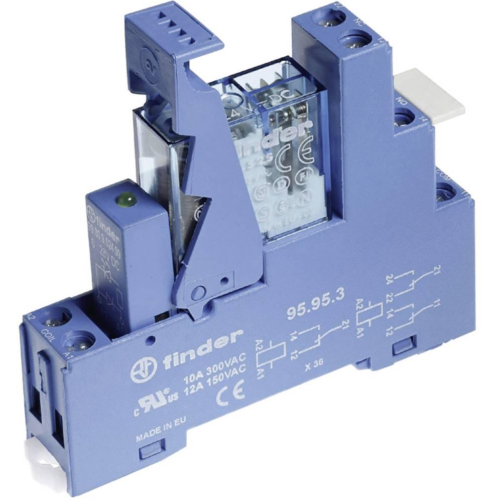 Relækomponent 1 stk Finder 49.52.8.230.0060 Nominel spænding: 230 V/AC Brydestrøm (max.): 8 A 2 x omskifter