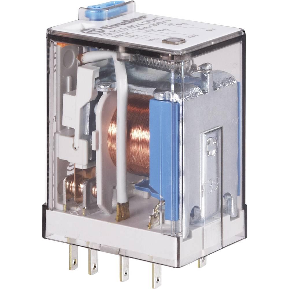Miniaturni relej Finder 55.32.8.024.0040, 24 V/AC, 2 x preklopni kontakt, 10 A, 250 V/AC