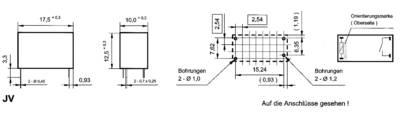 Takamisawa JV-05S-KT PCB relays 5 Vdc 5 A 1 maker 1 pc(s)