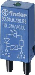 Indstiksmodul med LED, Med friløbsdiode 1 stk Finder 99.80.9.024.99 Lysfarve: Grøn Passer til serie: Finder serie 94, Finder ser
