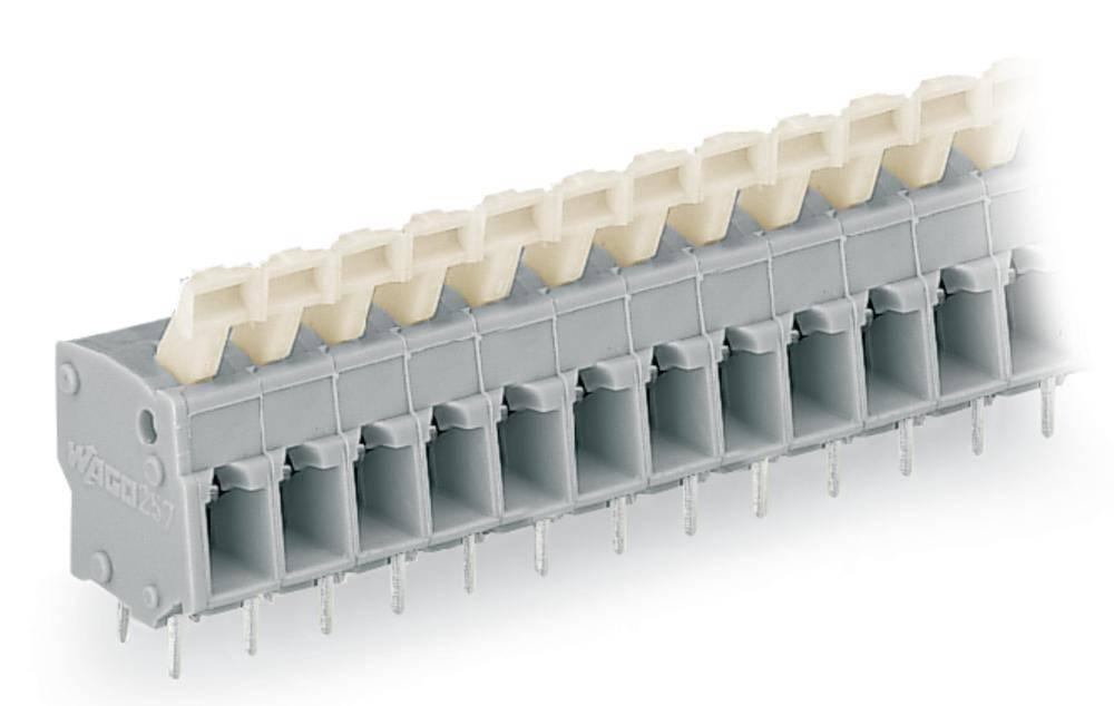 Fjederkraftsklemmeblok WAGO 2.50 mm² Poltal 9 Lysegrå 100 stk