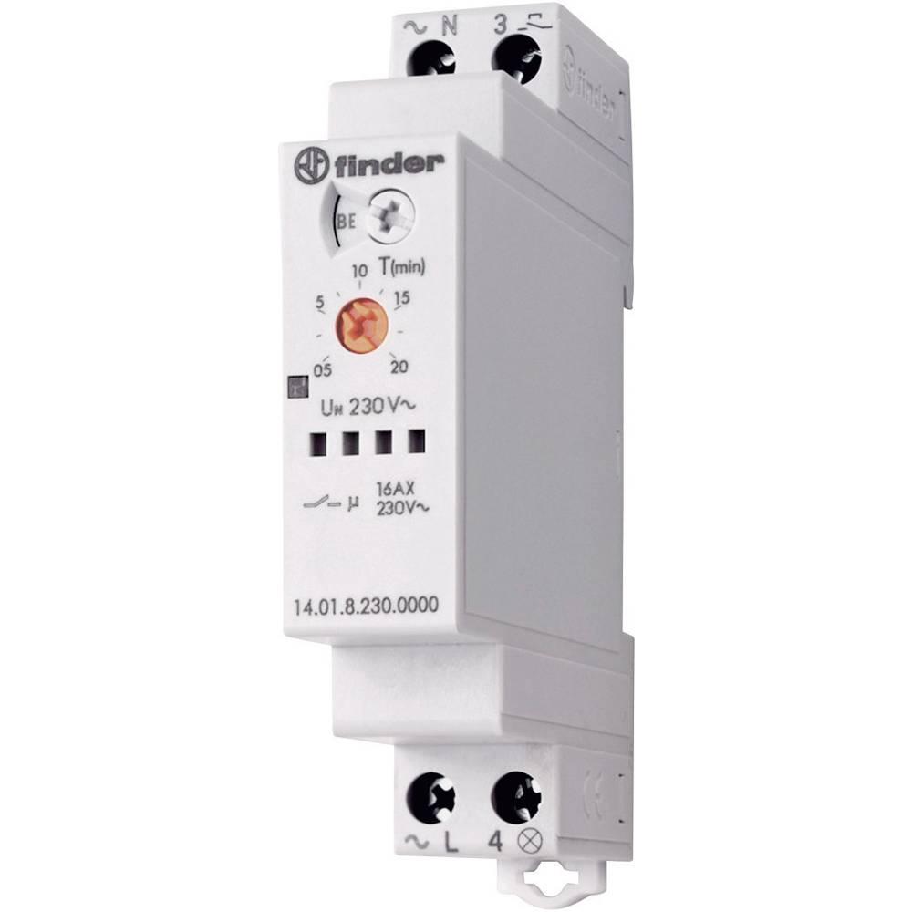 Treppenhaus-Lichtautomat Finder 14.01.8.230.0000 Multifunktionel 230 V/AC 30 s - 20 min 1 x sluttekontakt 1 stk