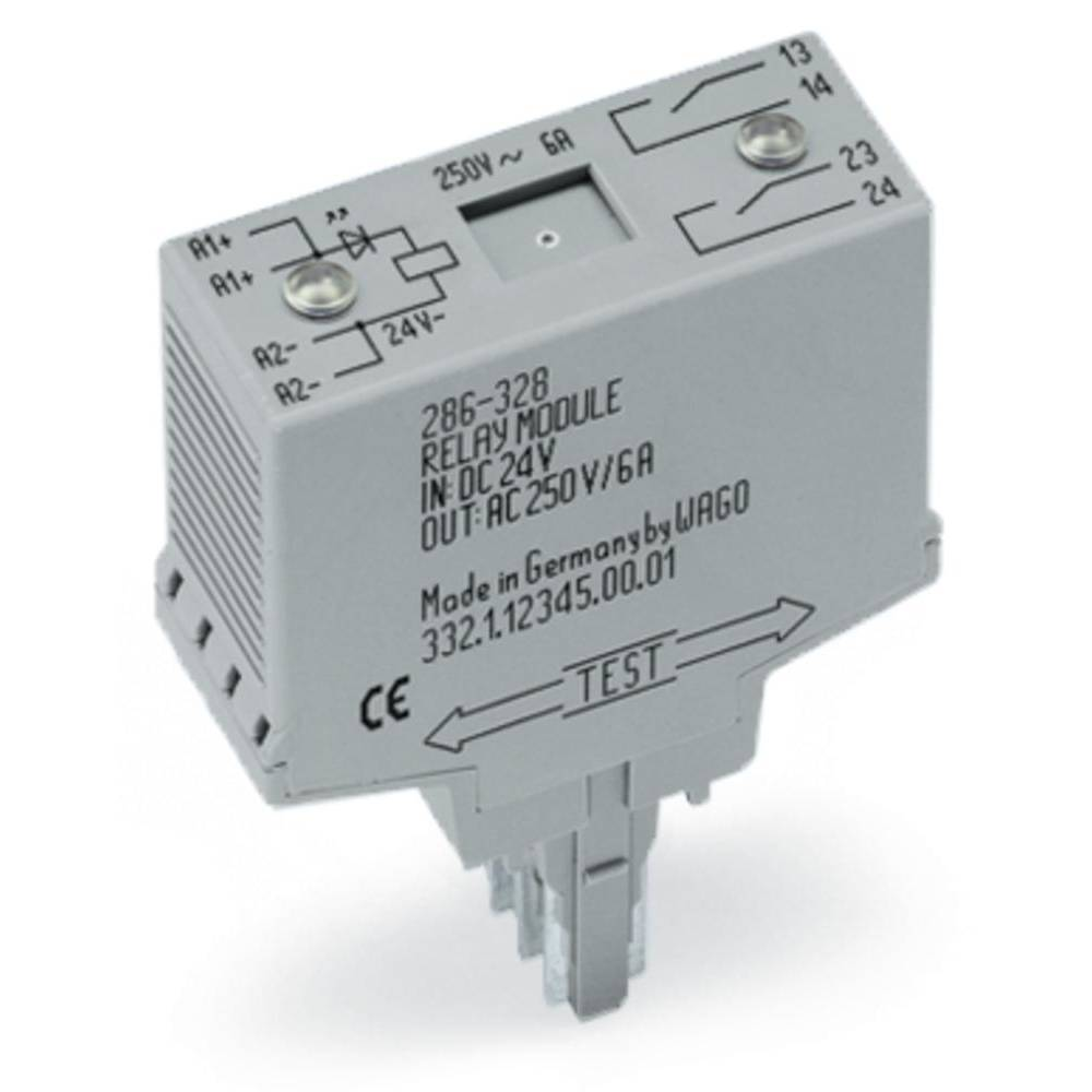 Vtični releji 24 V/DC 6 A s tremi zaklepi WAGO 286-328 1 kos