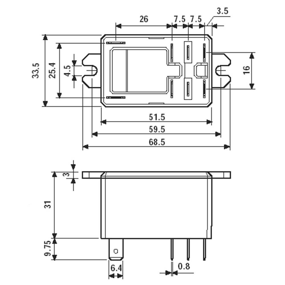 Finder 668290120000 30a Flange Mount Power Relay 12vdc 2 Co Diagram