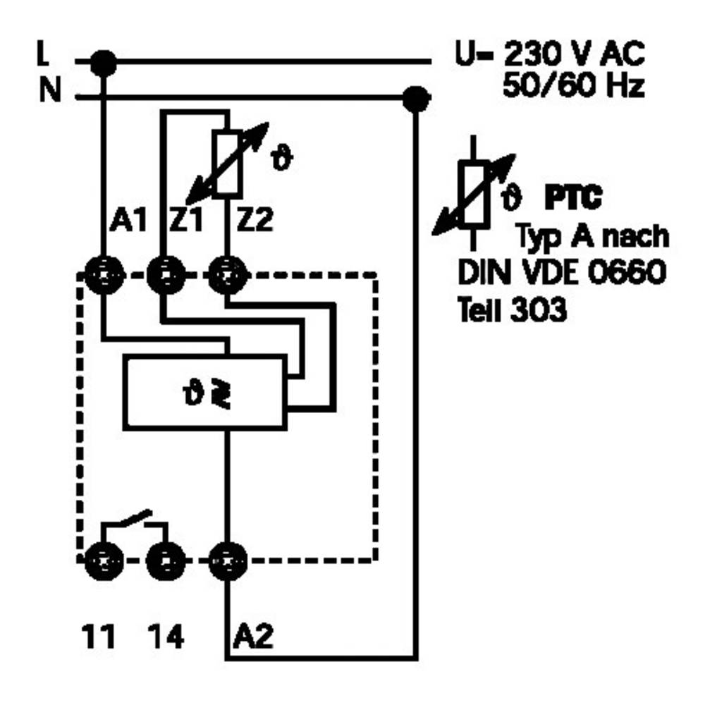 Finder 719182300300 Thermistor Temperature Sensing Relay Circuit Breaker Integral Monitoring For Advance Detection With