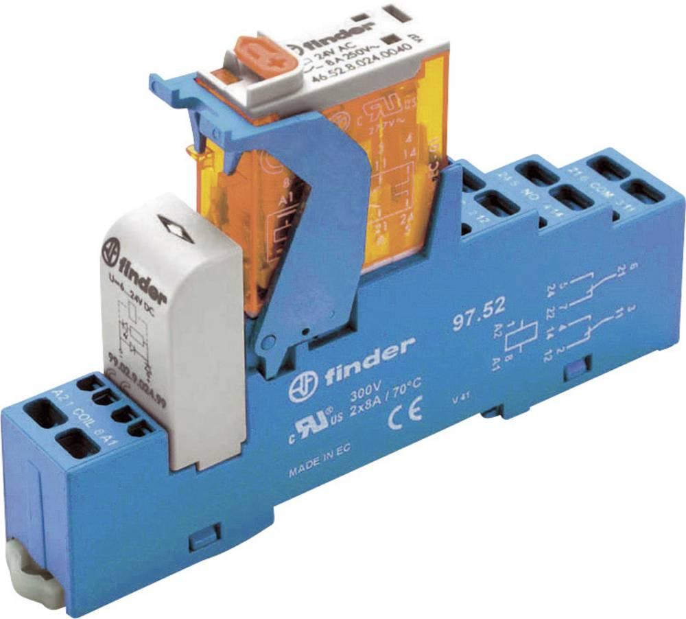 Relækomponent 1 stk Finder 4C.51.9.024.0050 Nominel spænding: 24 V/DC Brydestrøm (max.): 10 A 1 x skiftekontakt