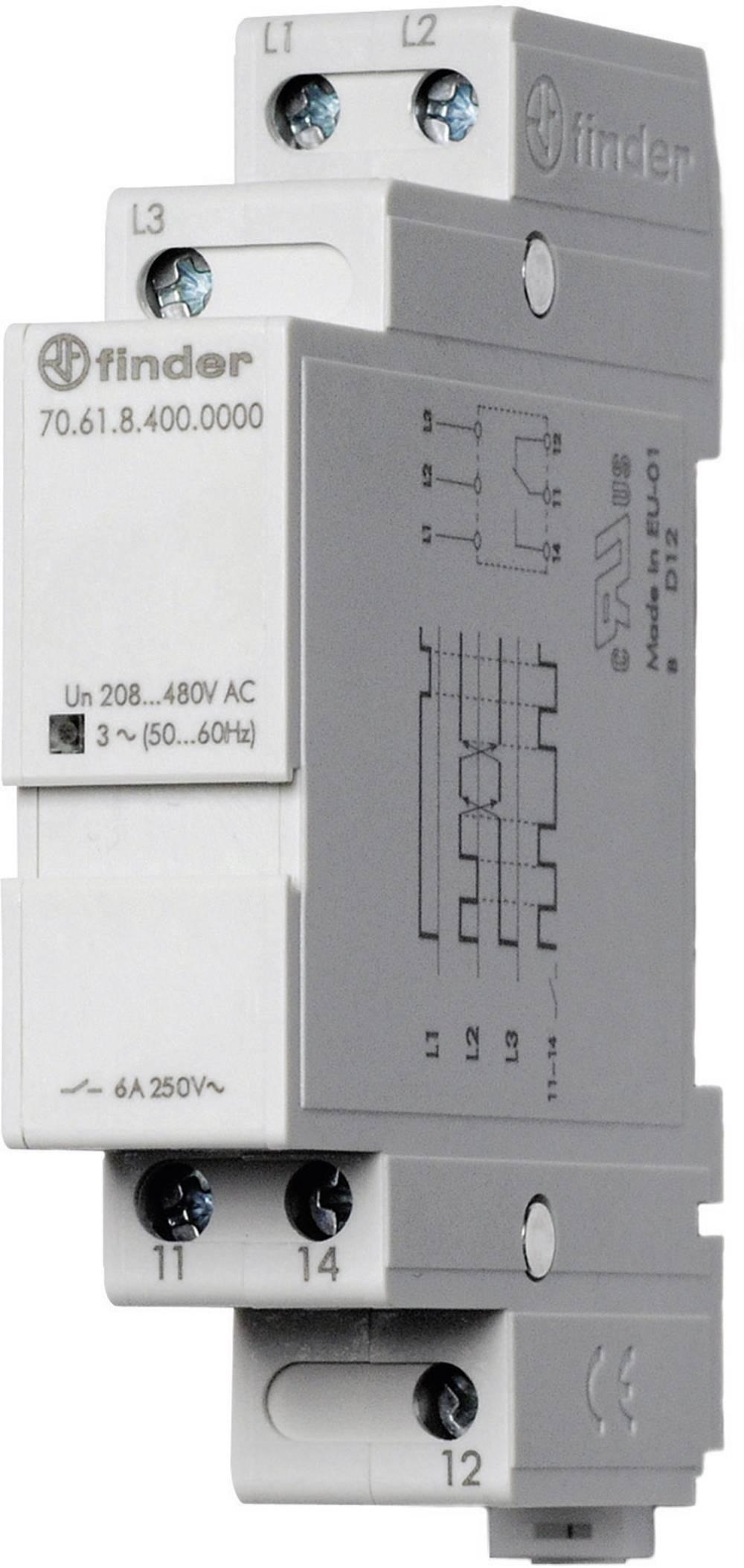 Finder 70.61.8.400.0000-Nadzorni rele 3-faznega omrežja (208-480 V/AC) 72.31.8.400.0000