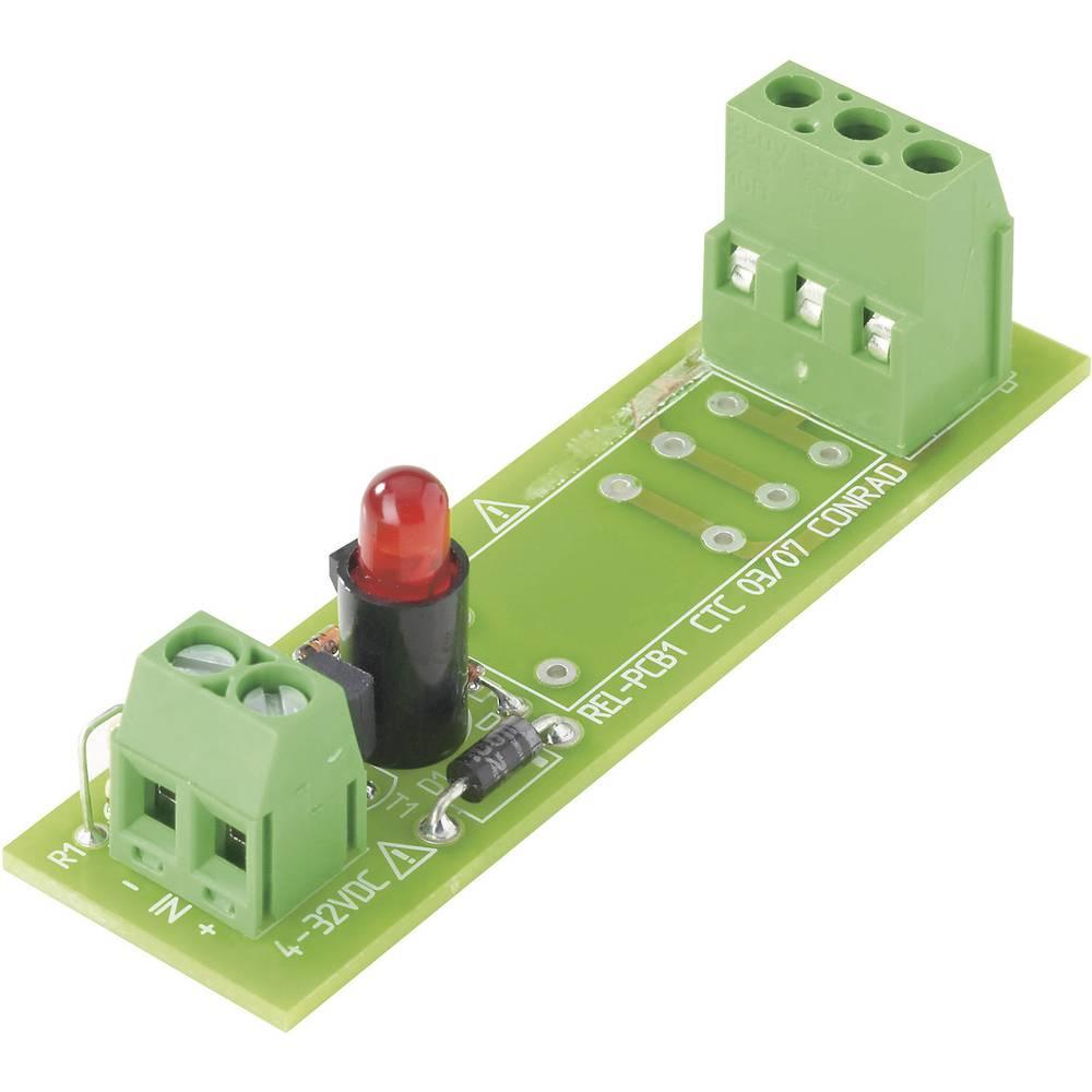 Relejna ploča REL-PCB1 Conrad bez releja 0 4 - 32 V/DC 1 izmjenični kontakt maks. 16 A/250 V/AC
