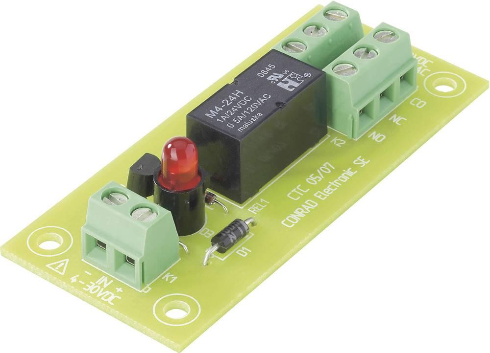 Tiskano vezje za rele REL-PCB31, z relejem, 5 V/DC, 2 x preklopni kontakt, 30 W/50 VA Conrad
