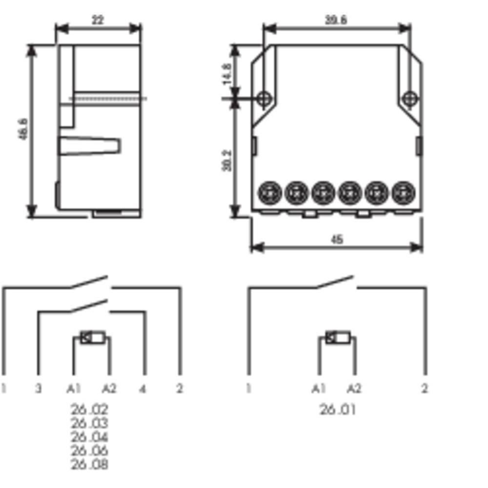 Finder 260282300000 10a Step Relay 230 V Ac Terminal Dpst No 10 A Maxac1 2500 Va Ac15
