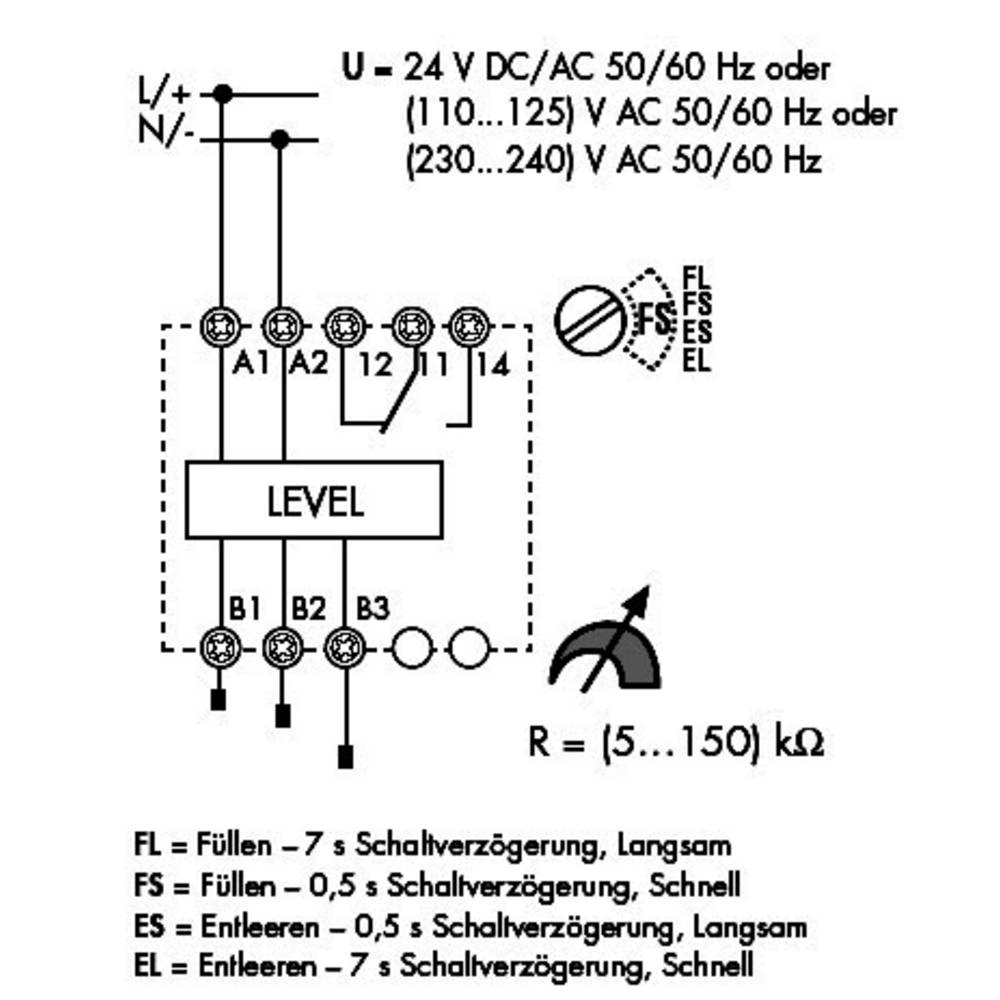 Finder 720182400000 10a Level Control Monitoring Relay Spdt Co Wiring Diagram 240 250vac