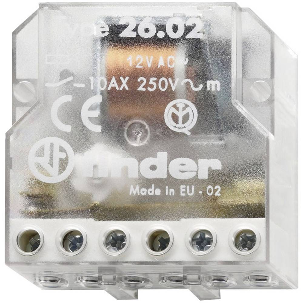 Finder-Impulsni koračajni prekidač 26.02.8.012.0000, 12V/AC, 2NO, 10A Max. 400V/AC/220V/DC