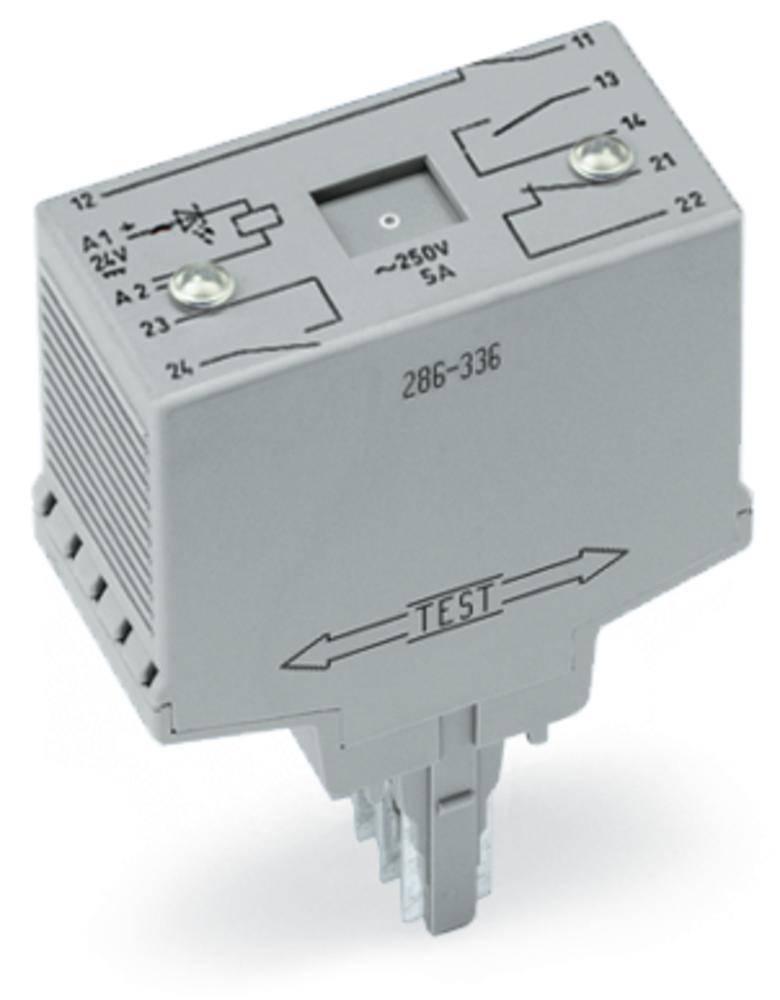 Vtični releji 48 V/DC 5 A 2 odklepa, s tremi zaklepi WAGO 286-337 1 kos