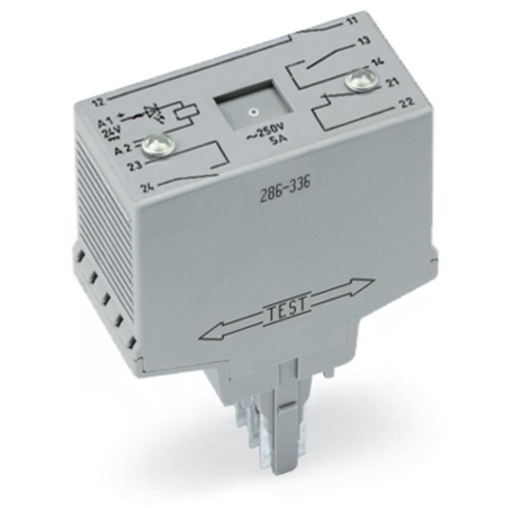 Vtični releji 24 V/DC 20 A 2 odklepa, s tremi zaklepi WAGO 286-336 1 kos