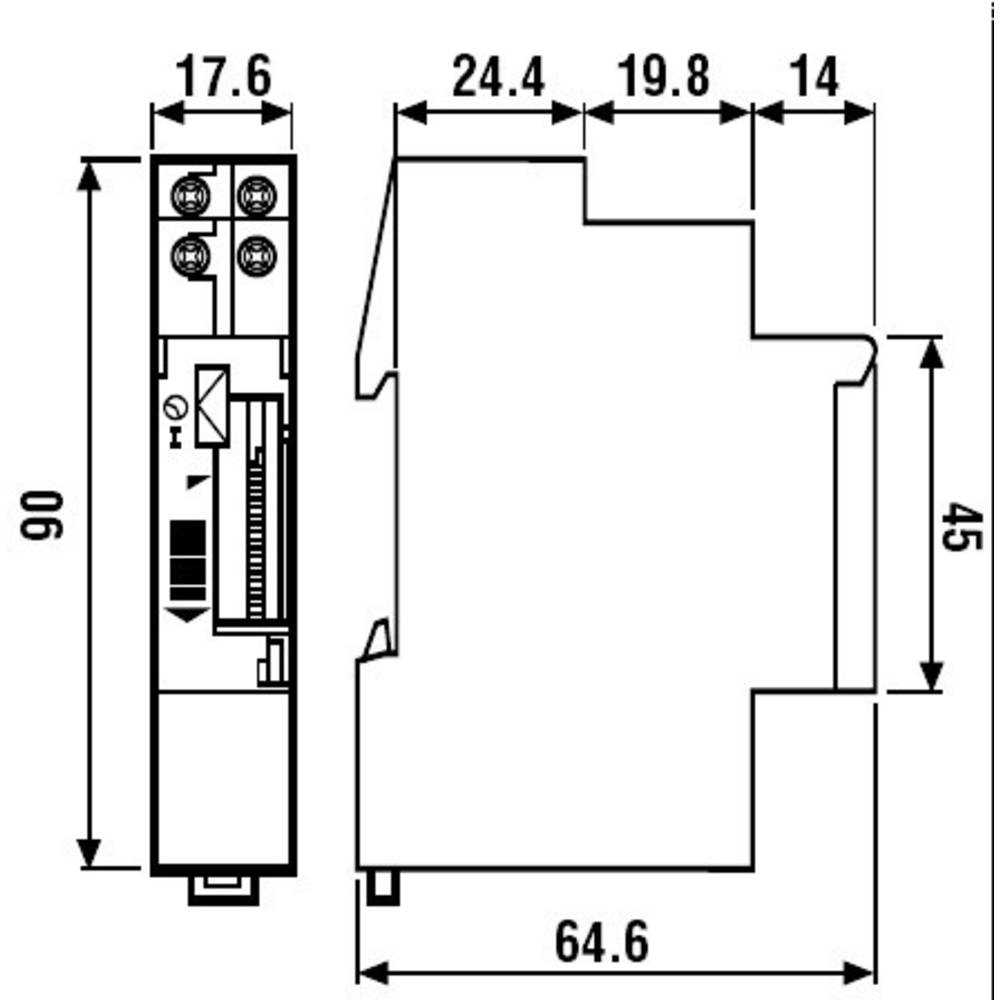 Finder 121182300000 16a Mechanical Daily Time Switch Spst No Dpdt Wiring Diagram In Addition With Spdt Relay 250vac