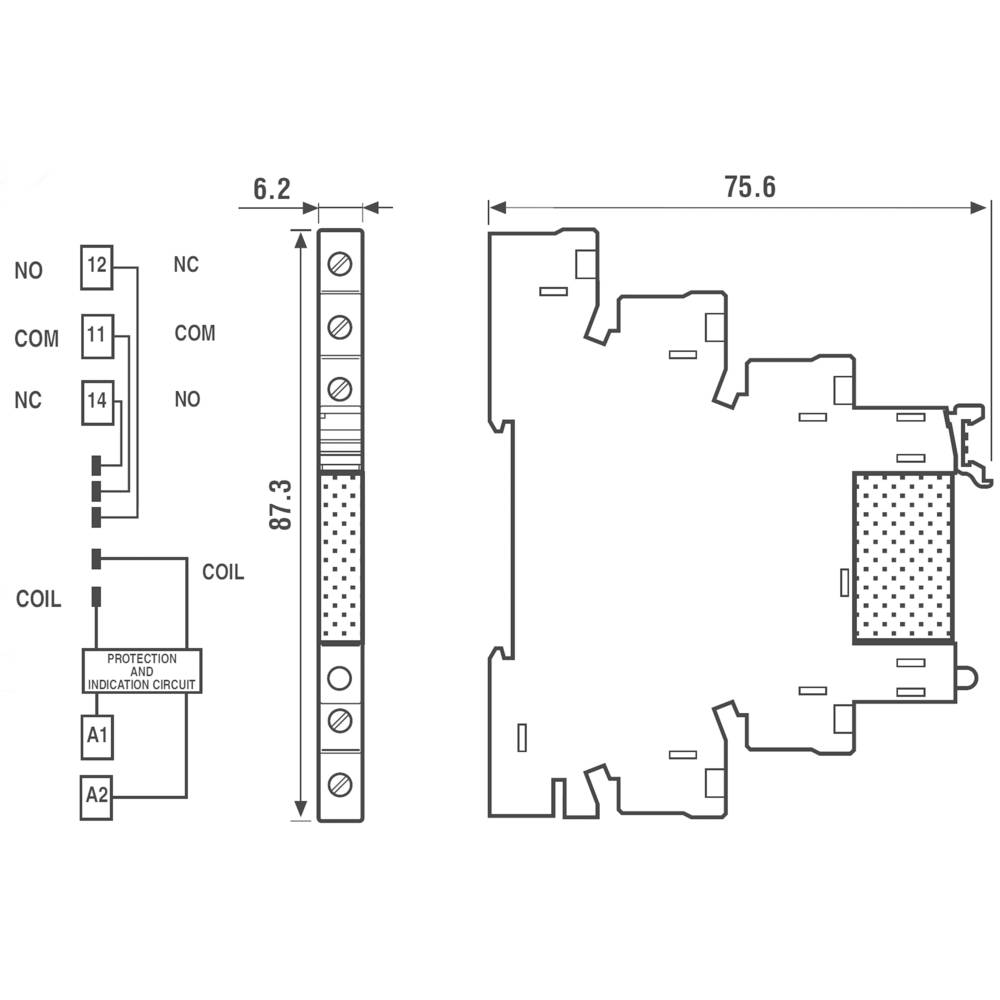 Finder 388170249024 2a Relay Interface Module Ssr Spst No Dpdt Switch Wiring Diagram In Addition With Spdt 24vdc
