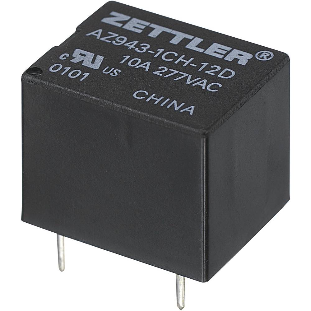 Miniaturni rele za tiskano vezje AZ943, 15 A Zettler Electronics AZ943-1CH-9DE 9 V/DC 1 x