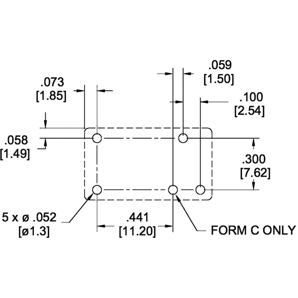 Zettler Electronics Az767 1a 12de Subminiature Pcb Mount Power Relay Form C Wiring Diagram Spst 12vdc 1 No
