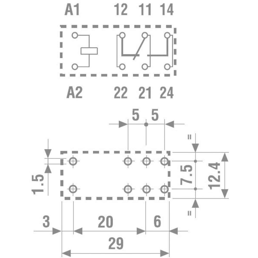 Wiring diagram for 11 pin relays the best wiring diagram 2017 pcb relays 12 vdc 16 a 1 change over finder 40 61 from conrad asfbconference2016 Images