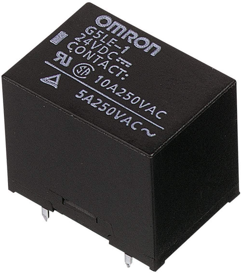 Relej Omron G5LE-1-VD 12 VDC, 12 V/DC, 1 x preklopni kontakt, maks. (DC) 8 A/(AC) 10 A